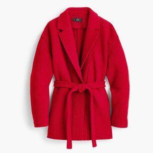 💖NWT J.Crew wrap 100% wool coat small